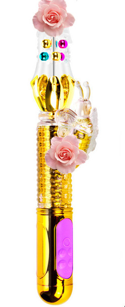 Perle rotation conception AV jouets vibrant masseur papillon Shaper sexe baguette magique vibromasseur USB rechargeable