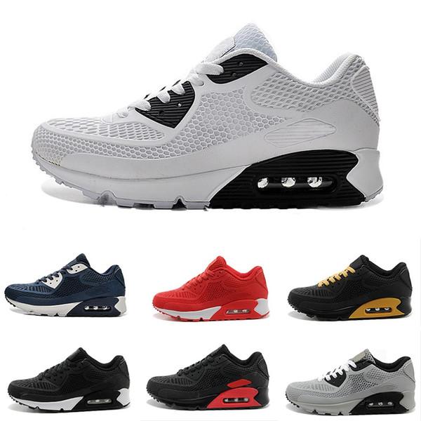 192bea47c39 NIKE Air Max 90 KPU Esporte Sapatilhas Sapatos Clássico 90 Homens e  mulheres Sapatos Casuais Preto