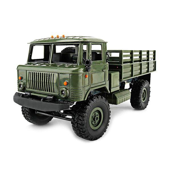 Wpl B -24 Gaz -66 Diy 1: 16 Rc Восхождение на военный грузовик Mini 2 .4 г 4wd Off-Roc Cars Off-Roads Rc Rc Транспортные средства Rtr Подарочная игрушка