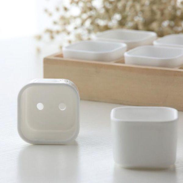 Plastic Succulent Plant Fleshy Flower Pot Square Round White Box Decorative Container Garden Supplies Wholesale QW9889