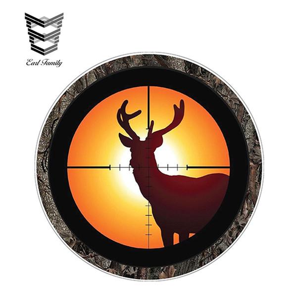 20pcs / lot gros Buck en Gun Sights Hunter Sticker Fusil Drôle Sticker Vinyle JDM Autocollants Accessoires Imperméables 12cm x 12cm