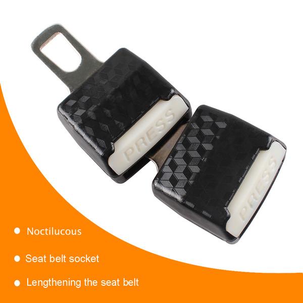 8 Car Safety Belt Extender Multi Function Car Safety Belt Extension Belt Auto Safety Belt Extender Lengthening Safety Belt Car Accessory Black