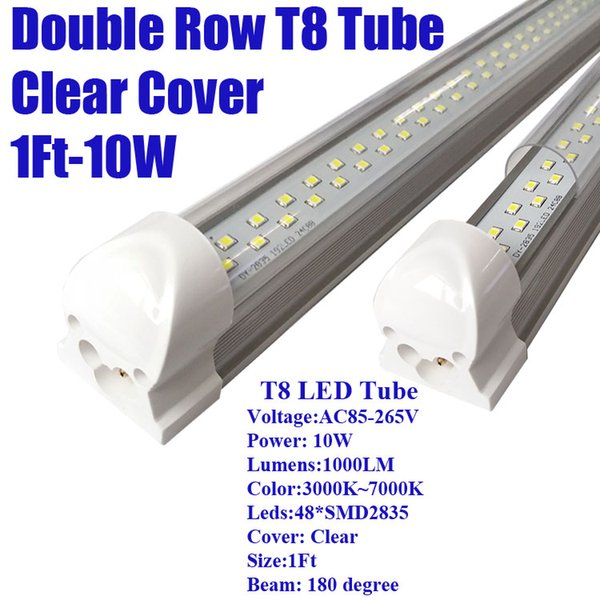 1Ft 10W Double Row Clear Cover