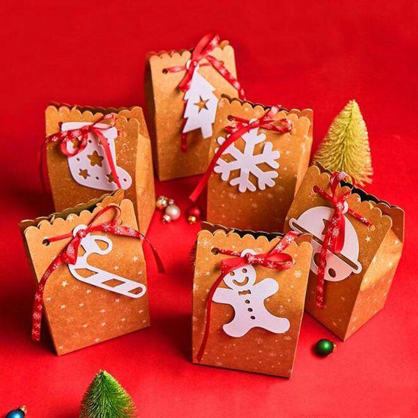Рождество конфеты коробка подарка мешок печенья коробки Рождественские коробки и упаковка подарочные пакеты для упаковки Поставки рождественские украшения партии AN2829