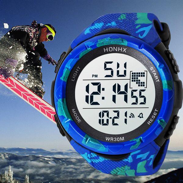 1Men Saatler 2019 Honhx Marka Erkekler Analog Dijital Askeri Ordu Otomatik Spor Led Su Geçirmez Bilek İzle Reloj Hombre