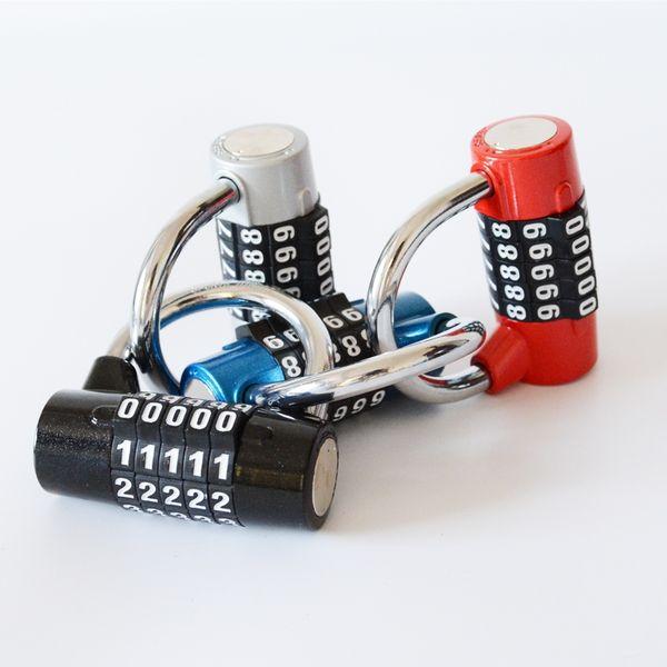 4 and 5 digital password bicycle lock zinc alloy stable door window Gym lock Anti-theft bicycle alarm on your bike or motorbike #672154