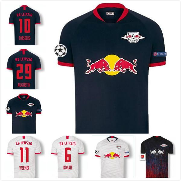 2019 2020 WERNER FORSBERG Maillots de football POULSEN halstenberg Sabitzer UPAMECANO maison AUGUSTIN loin 19 20 Leipziges maillot de football