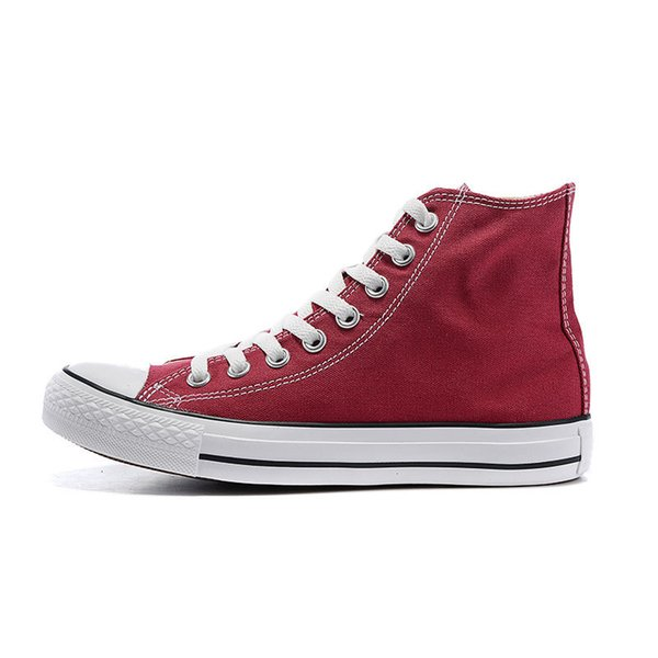 wine red -high top