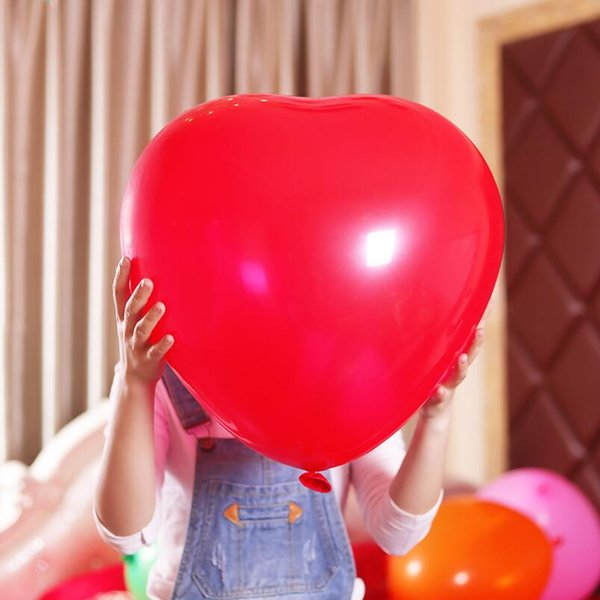 Colorful Blow Up 36 Inches Oversized Heart Love Balloon Helium Inflable Big Latex Balloons for Wedding Birthday Party Decorations LX4832