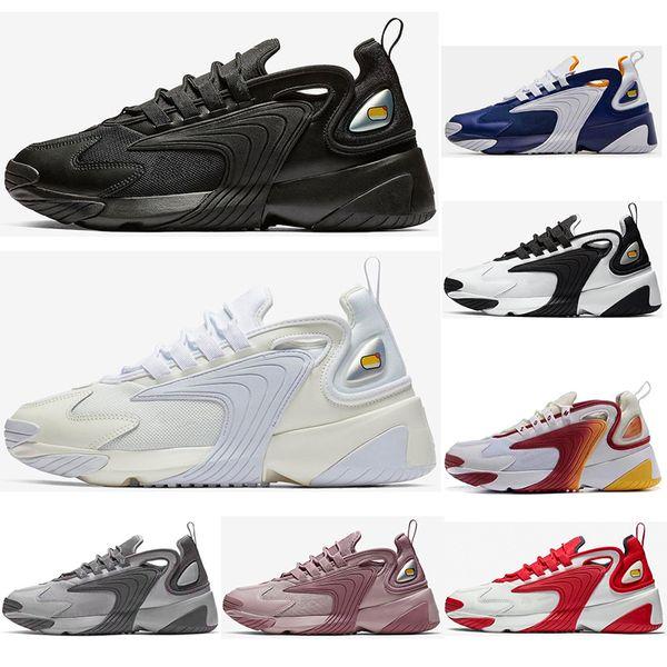 Nike M2k Tekno Zoom 2K ZM 2000 Hombres Zapatillas De Deporte De Estilo De Vida Al Aire Libre Negro Blanco Azul Naranja Moda Entrenadores Para Hombre
