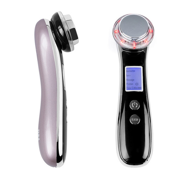 Facial EMS RF Mesotherapy Electroporation Radio Frequency LED Photon V-Face Device Face Lifting Tighten Wrinkle Removal Massager