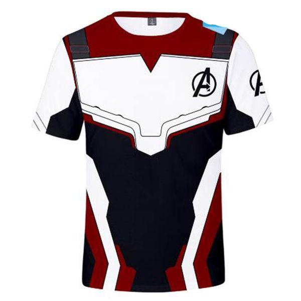 Vingadores 4 Endgame camiseta Cosplay Quantum Reino T-shirt Das Mulheres Dos Homens de Superhero Homem de Ferro Thanos 3D Impresso Casual Tops Tees