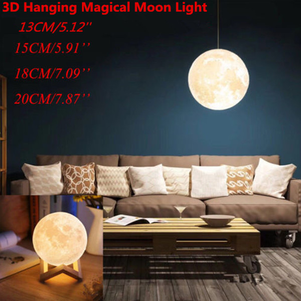 Stupendous 2019 2019 New Hanging 13 20Cm Globe 3D Moon Lamp Remote Control Rgb Led Night Light Usb Moonlight Wood Stand From Butao 53 58 Dhgate Com Andrewgaddart Wooden Chair Designs For Living Room Andrewgaddartcom