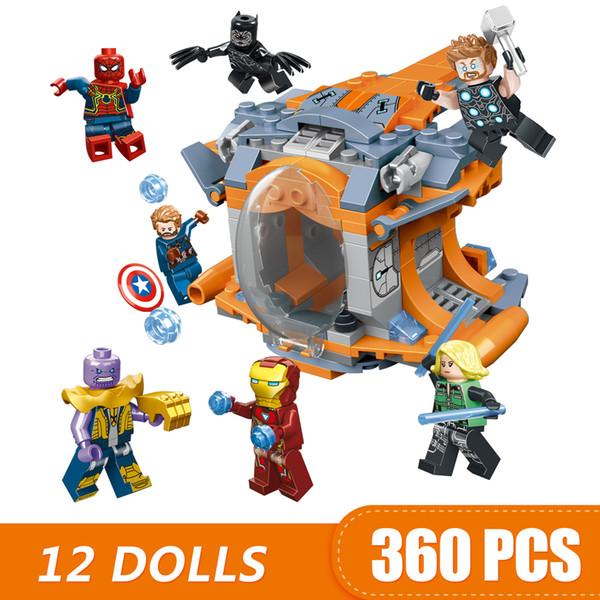 480 ШТ. Небольшие Строительные Блоки, Совместимые с Legoe 12 В 1 Marvel Мстители 4 эндшпиля