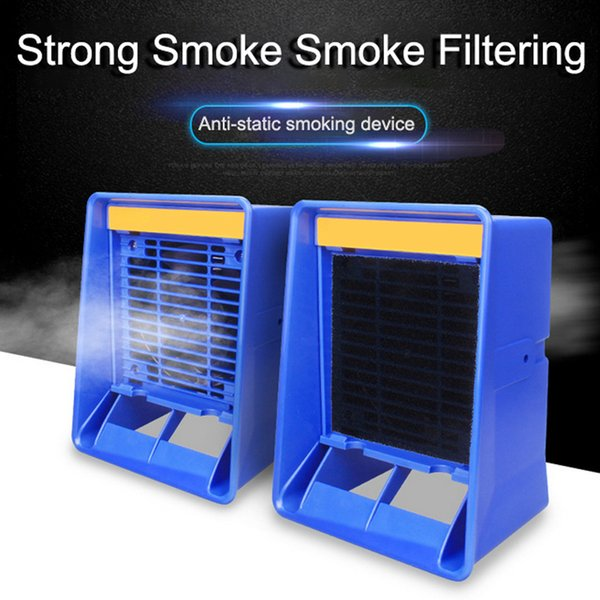 best selling 220V Solder Smoke Absorber Remover Fume Extractor Air Filter Fan For Industury Removes Soldering Smoke Fume in Vertical Position