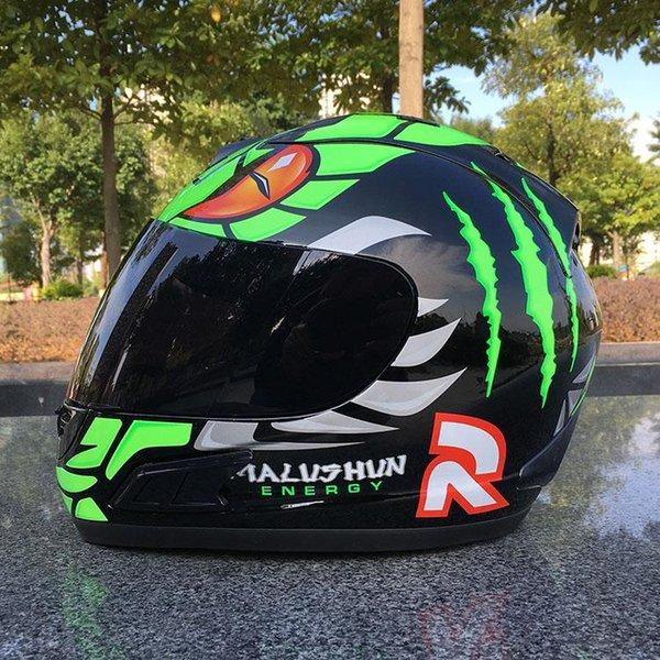 2018 Top Brand malushun motorcycle helmet Jorge Lorenzo full face helmet motoGP racing helmet moto casco motociclistas capacete DOT