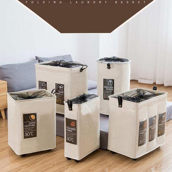 top popular Rolling Corner Laundry Basket Durable Laundry Sorter Hamper Clothes Storage Basket Bin Organizer Washing Bag 2019