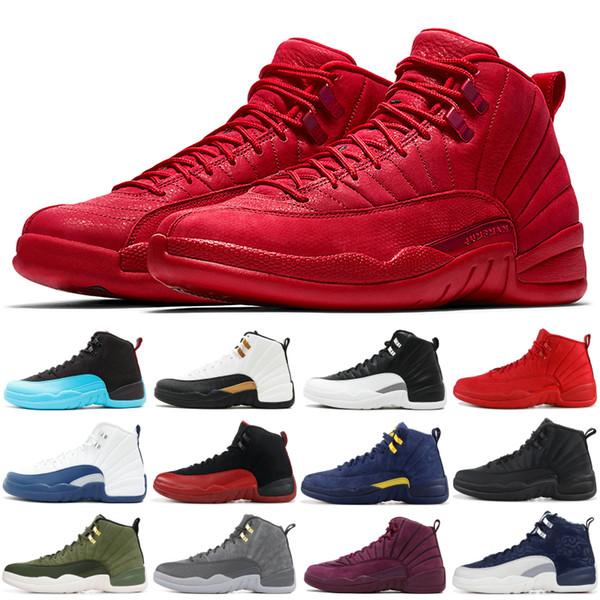 Spor Kırmızı Basketbol beyaz kanatları usta 12s CNY Taksi Yüksek Kalite Erkek Trainer Spor Ayakkabıları ovo 12 Ayakkabı