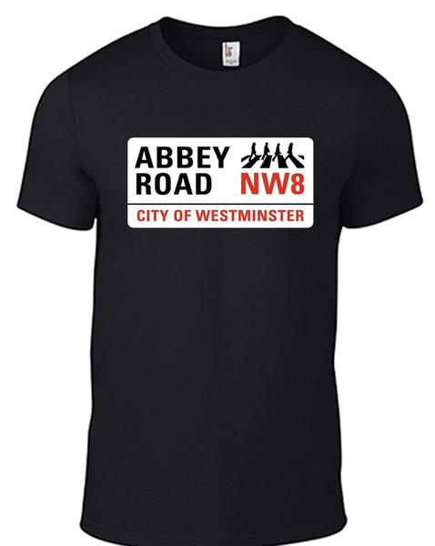 The Beatles Abbey Road street sign T-SHIRT ZEBRA CROSSING john lennon sgt pepper