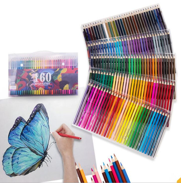 top popular Painting Pens Oily color pencil 160 color hand-painted coloring brush children adult hand-painted beginner color lead 2021