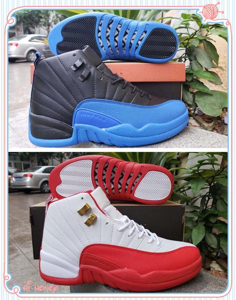 Lo nuevo 12 FIBA White University Red Men zapatos de baloncesto de buena calidad 12s Game Royal Black para hombre zapatillas de deporte de diseño