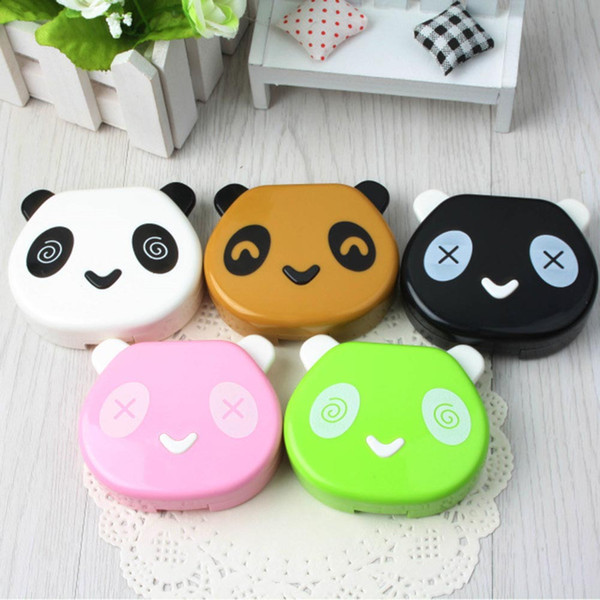 1PCS New Cartoon Cute Travel Glasses Contact Lenses Box Contact lens Case for Eyes Care Kit Holder Container