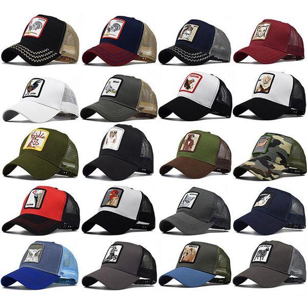 Cappelli animali ricamati per adulti Uomo Donna Estate Trucker Hat Snapbacks Hip Hop Berretto da baseball Cap Designer Sun Visor Cappelli da party HH9-2230
