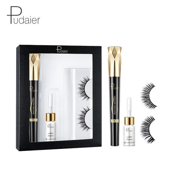 3 Pcs Fast Drying Eyelash Glue Prevent allergy Lash Adhesive Waterproof Mascara Kit Professional 3d Natural False Eyelashes Set