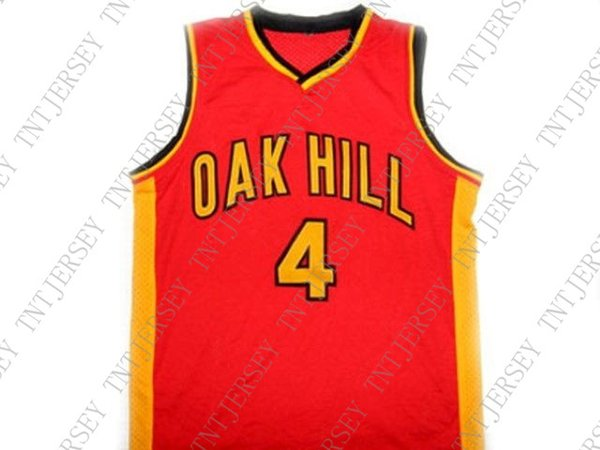 wholesale Rajon Rondo #4 Oak Hill High School New Basketball Jersey Red Stitched Custom any number name MEN WOMEN YOUTH BASKETBALL JERSEY