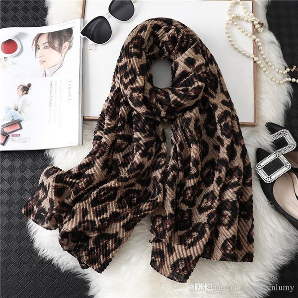 Femmes Mode imprimé léopard écharpe Printemps Eté Châle Wraps double usage Echarpes automne hiver chaud coton Pashmina Accessoires Cape Anneau