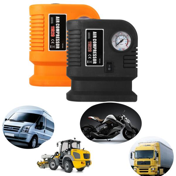 audew electric 300psi 12v mini portable air compressor pump auto car tire inflator for auto/motorcycle - from $26.61