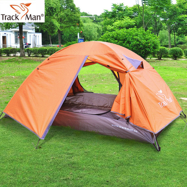 Ultralight Outdoor Camping Tent 2 Person One Bedroom Double Layers 3 Season Aluminum Pole & Fiber Glass Pole Automatic
