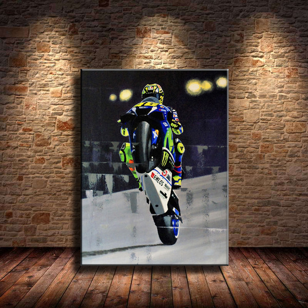 Motor Sports,1 Pieces Canvas Prints Wall Art Oil Painting Home Decor (Unframed/Framed) .