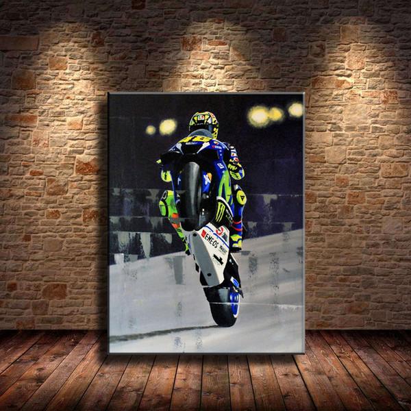 Deportes de motor, 1 pieza Impresiones de la lona Arte de la pared Pintura al óleo Decoración del hogar (sin marco / enmarcado).