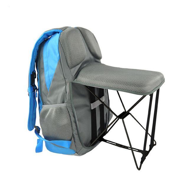 47L Outdoor Fishing Backpack Hiking Camping Trekking Travel Shoulder Multi-functional Large Capacity Fishing Bag Folding Chairs #781067
