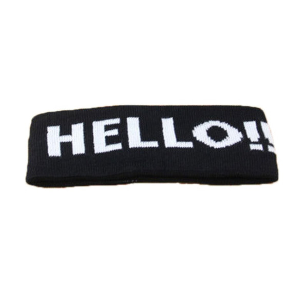 Knit Letters Breathable Stretch Headband Elastic Sports Yoga Headband Multi-Colors