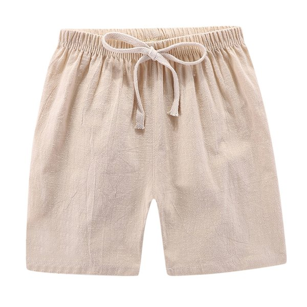 Children Shorts for Boys Summer Beach Short Boys Girls Shorts Solid Color Casual Sports Kids Pants Clothing Elastic Waist
