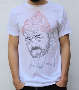 Bill Murray, t-shirt do design de Steve Zissou