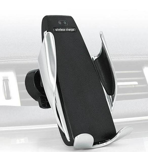 RI Automático de Fixação Qi Carregador de Carro Sem Fio Air Vent Suporte Do Telefone de Carregamento Suporte de Montagem Para o iphone Samsung Android Celular