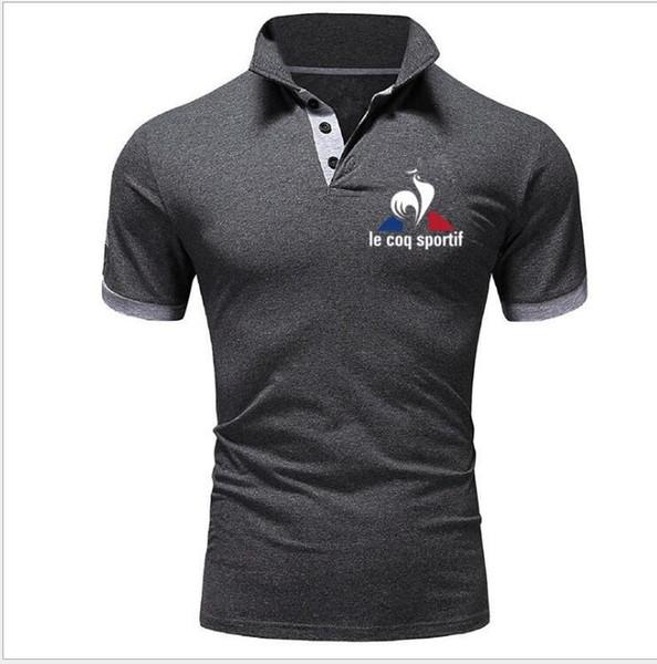Новые мужские рубашки поло мода поло Masculinas отложным воротником Slim Fit с коротким рукавом рубашки поло мужские летние топы