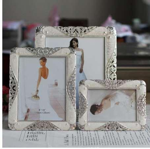 Hot Selling Newest 6 Inch 8 Inch 10 Inch Metal Photo Frame Wedding Photo Studio Photo Album Gift Set Frame Home Decor