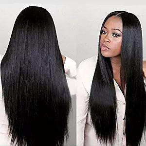 Unprocessed Human Hair Full Lace Wigs Lace Front Wigs With Baby Hair 8A Straight Style Brazilian Human Wig For Black Women