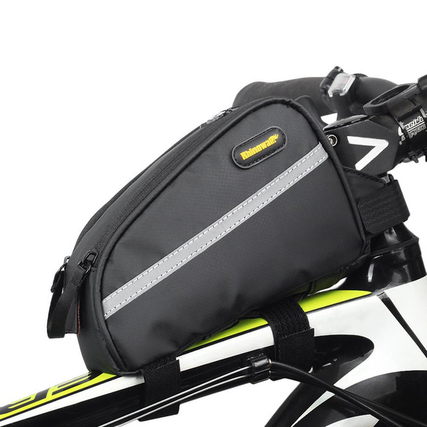 Bicycle Top Tube Bag Waterproof Cycling Front Frame Bag Large Capacity MTB Road Bike Bicycle Pannier With Rain Cover