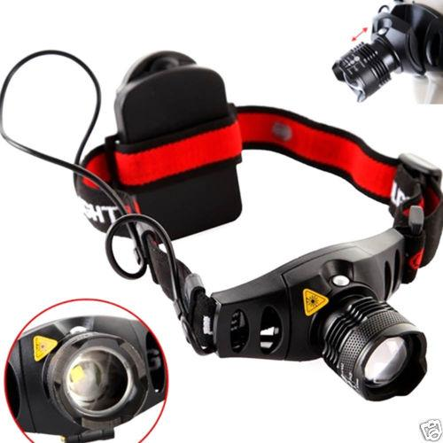 Q5 1000LM 4 Modes LED Headlight Headlamp Zoomable Focus Head Lamp Torch Flashlight Camping Spotlight Lantern For Hunting Use AAA CAR