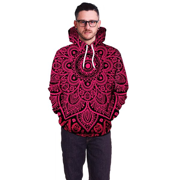 Santa Claus fall/winter 2019 3D animal print fashion sporty hoodie coat with hat pocket digital print hoodie pullover B101-171