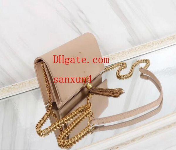 Nuove borse moda donna di marca Hot Fashion Ladies Genuine Leather Crochet Decoration Messenger Shoulder Bag Sacs à main de luxe B- @ 20