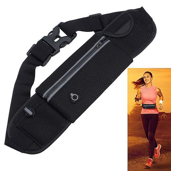 New Black Waterproof Outdoor Sport Running Waist Belt Bag Cycling Jagging Mobile Phone Money Pack Pouch Bags for Women Men #86661