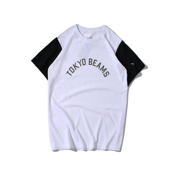 New hot mens tshirt designer trend wild tshirts men women couple casual t-shirt street sport fashion t-shirts cotton cosy splice Tee shirt