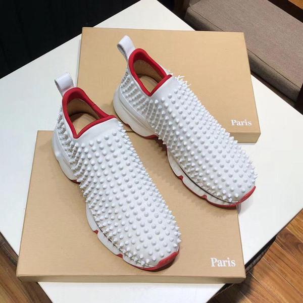 pointes de mode de qualité supérieure chaussures de tennis pour hommes de luxe Party chaussures de mariage des femmes Rivet mens plat chaussures de course de grande taille US 13