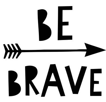 Be Brave Quotes Wall Sticker Encouragement Motivational Lettering Word Wall Decal Home Kids Room Vinyl Murals